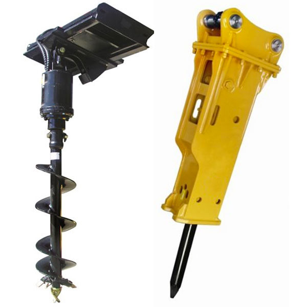 excavator attachment hire